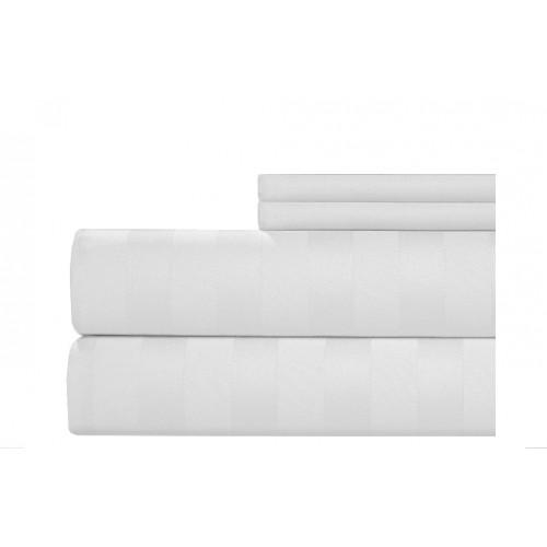 Juego de sábanas 400 hilos en algodón para cama extradoble de 1,60 x 1,90