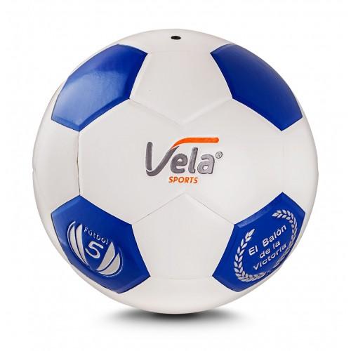 Balón Fútbol No.5 Blanco y Azul Ref. GM49