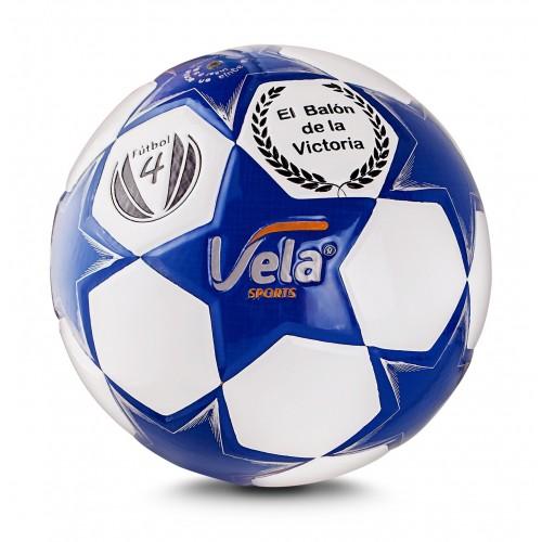 Balón de fútbol No.4 Vela Blanco y azul Ref. GA56