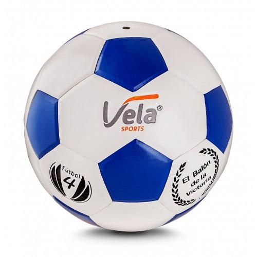 Balón fútbol No.4 Blanco y azul Ref. GM57
