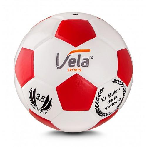 Balón de Microfútbol No. 3,5 Vela Ref. GM72 Blanco y rojo
