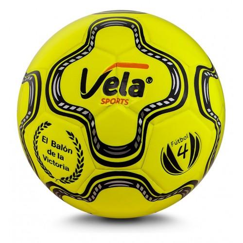 Balón de fútbol No. 4 Amarillo neón Vela Ref. GA181